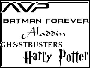 5 Font Movie