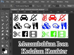 Cara menambahkan icon kedalam karakter Teks